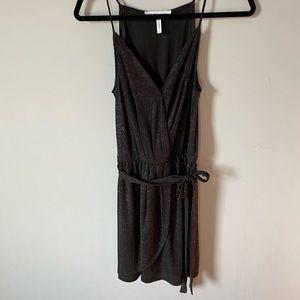 BCBGeneration Sparkly Black Mini Dress
